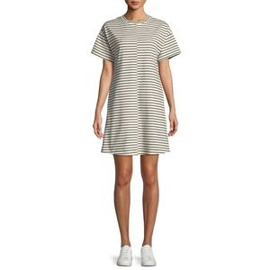 Theory Relaxed Combo Stripe Shift Dress